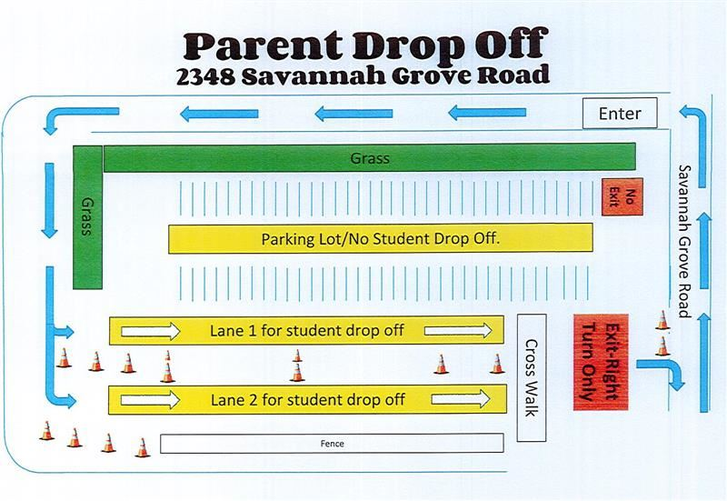 Parent Drop Off 2348 Savannah Grove Road