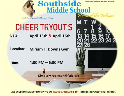 Tryout Dates