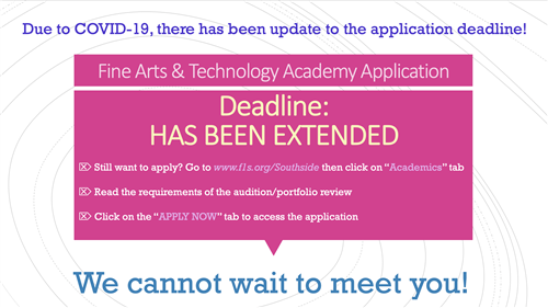 Deadline for applications has been extended!