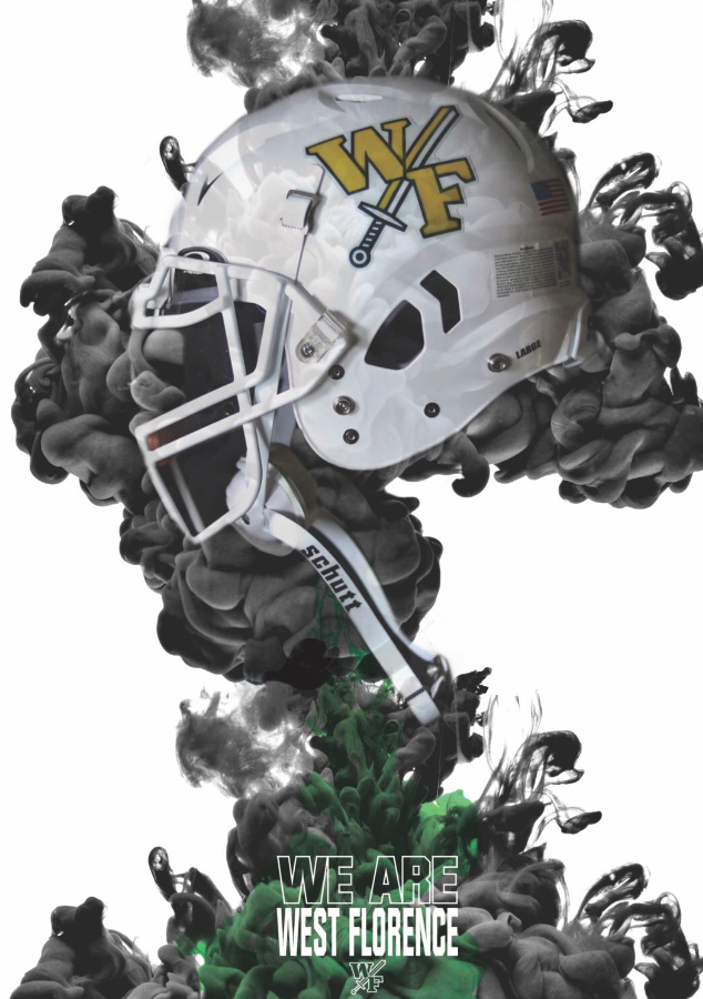 WF White Football Helmet