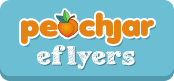 Peach Jar E-flyers
