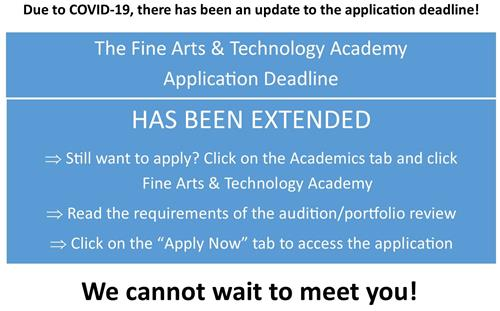The Fine Arts Academy Application Deadline Has Been Extended