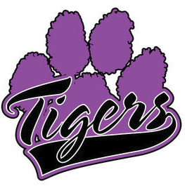 Purple Paw Logo with Tigers Text