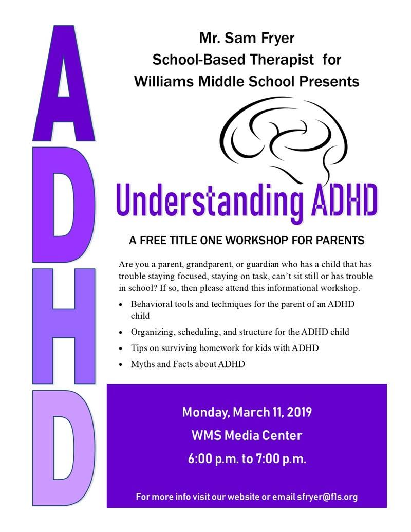 image of ADHD flyer