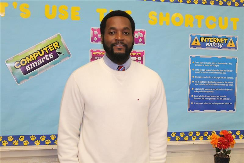 Richard Cue, teacher of the month for January