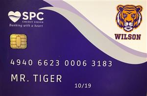 SPC Credit Union Tiger ATM Card