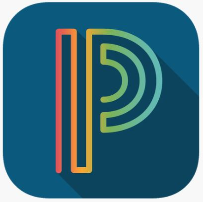 A dark blue letter P. The logo for PowerSchool