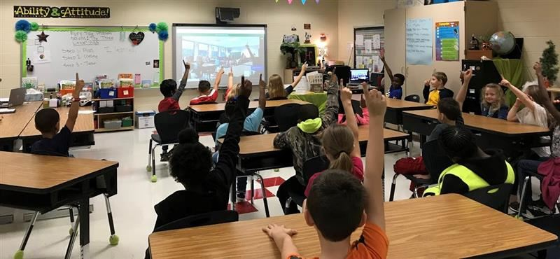 Lucy T Davis students participate in Google Hangout