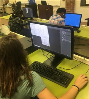 South Florence Students work with Adobe Photoshop
