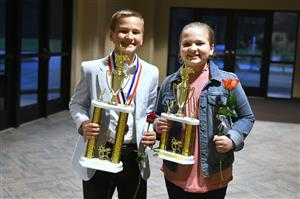 Elementary School Division Vocal Star Winners Jacob Gray and Jennalyn Gray