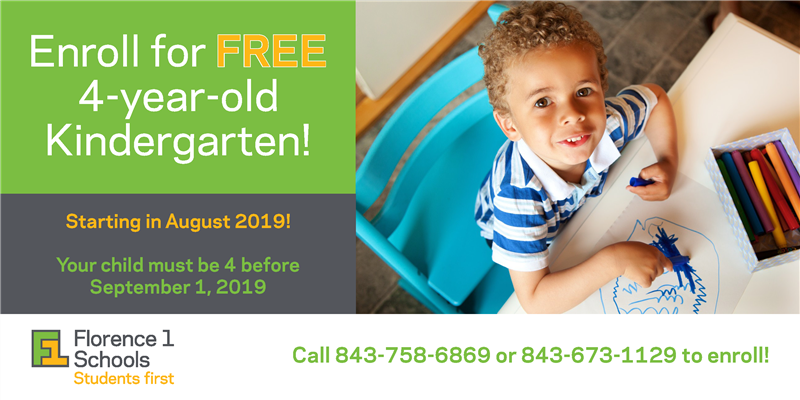 Enroll for Free 4-year-old Kindergarten