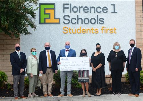 Florence 1 Schools grant award check presenation