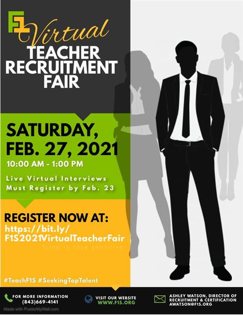 Virtual Teacher Recruitment Fair February 27, 2021