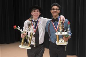 High School Division Vocal Star Winners Joshua Anderson and Tripp Taylor