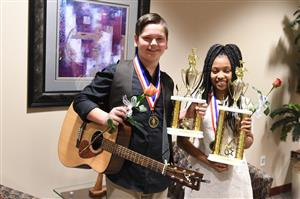 Middle School  Division Vocal Star Winners Tyler Russell and Jaden Pratt