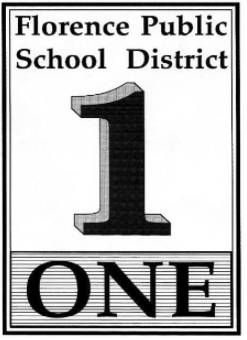 Florence Public School One black and white logo